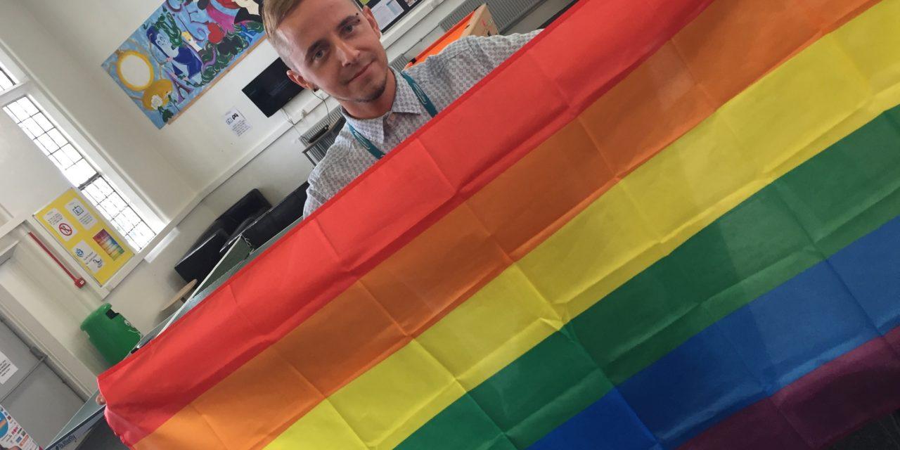 Stephen flies Pride colours