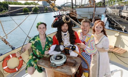 OH BUOY! Star-studded panto cast visit The Tall Ships to launch Peter Pan!