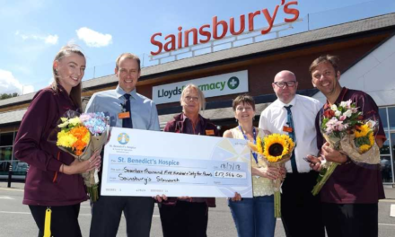 Supermarket sweet as staff raise thousands for hospice