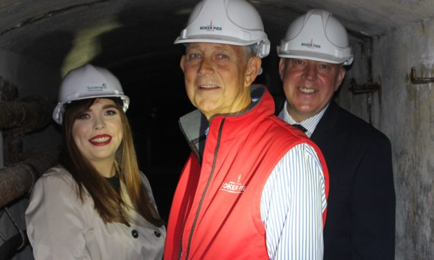 Pier tunnel and lighthouse open for tours