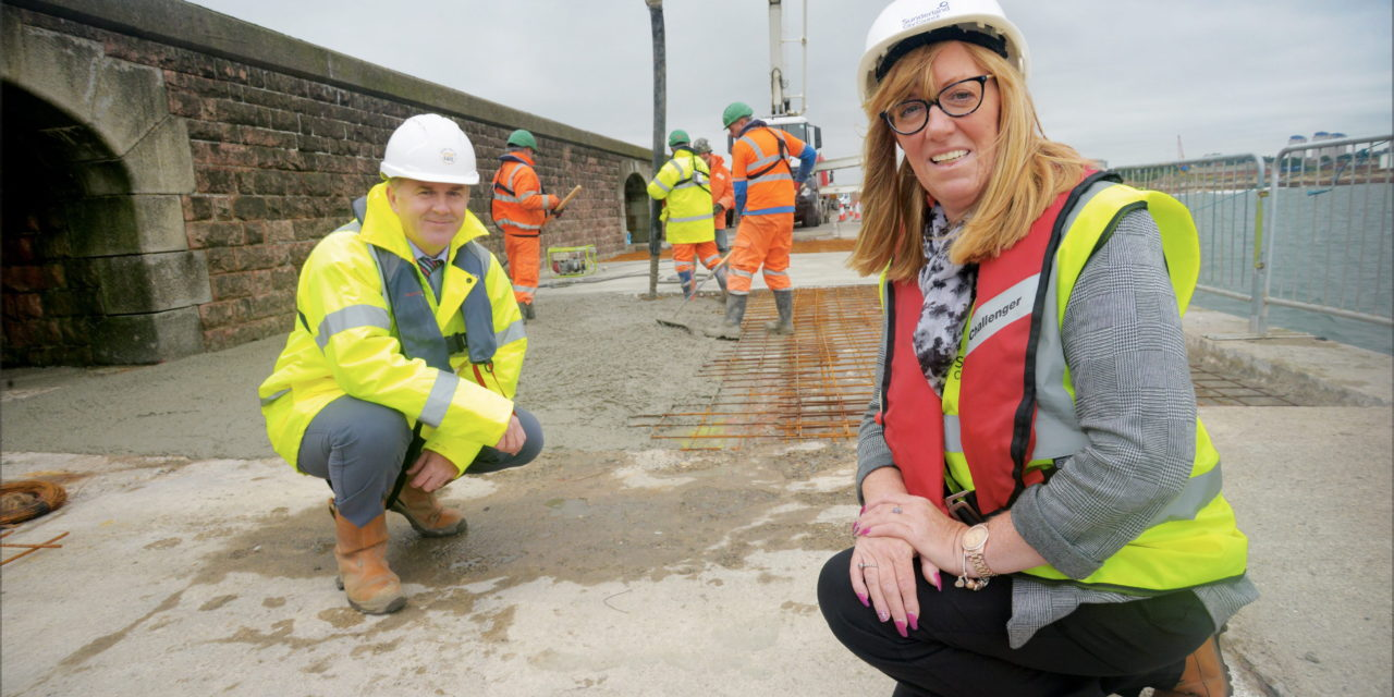 Work continues on repairing New South Pier