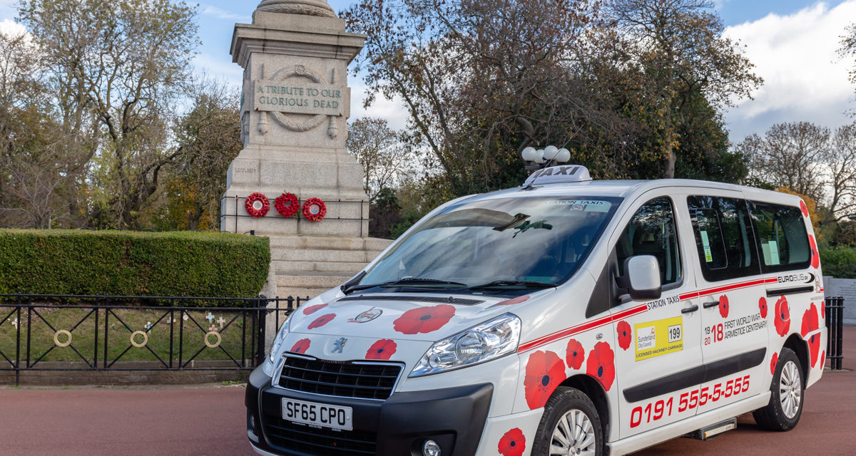 Sunderland get branded taxi in support of this year's Poppy Appeal