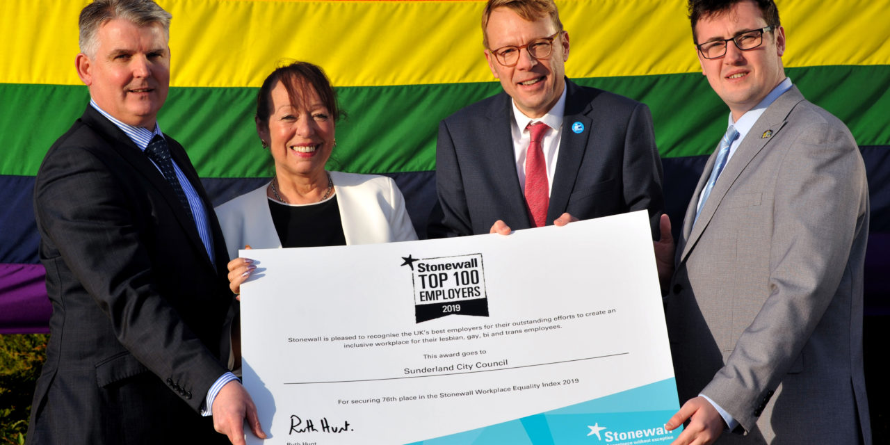 Stonewall names Sunderland city council one of Britain's top 100 lgbt-inclusive employers