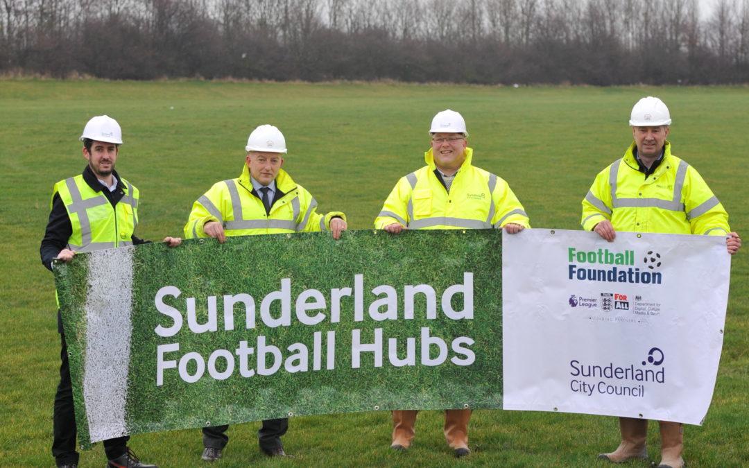 Construction begins on three new community football hubs in Sunderland