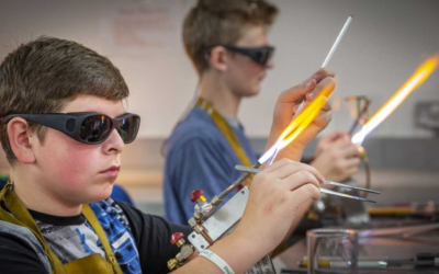 Students learn design skills inside the 'glassroom'