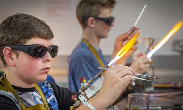 Students learn design skills inside the 'glassroom'