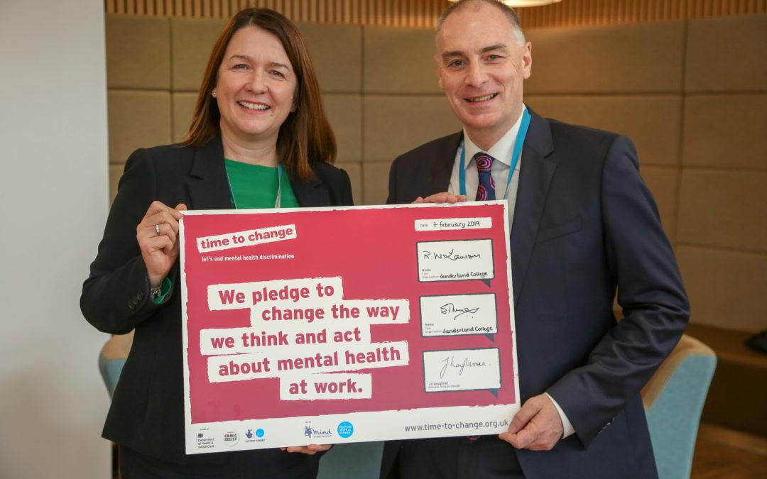 Sunderland College pledge support for mental health