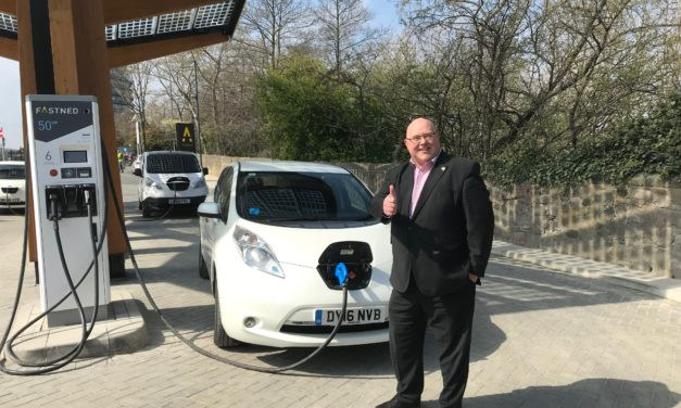 Sunderland soars to the top of the UK for electric vehicle charging