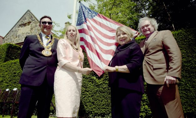 Stars and stripes raised at Washington Old Hall