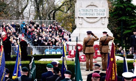 MARKING REMEMBRANCE SUNDAY IN SUNDERLAND
