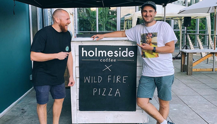 Josh Wild and Joe Collins have teamed up for a new venture that sees Wild Fire Pizza serving at the Ship Isis on a permanent basis