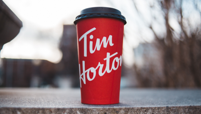 Tim Hortons takeaway coffee cup