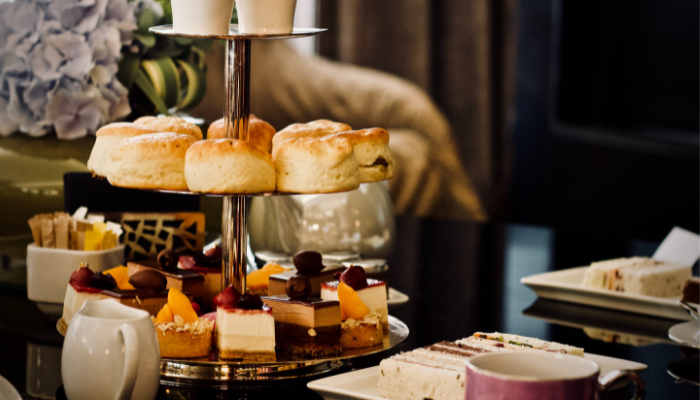 Traditional Afternoon Tea with cake and scones