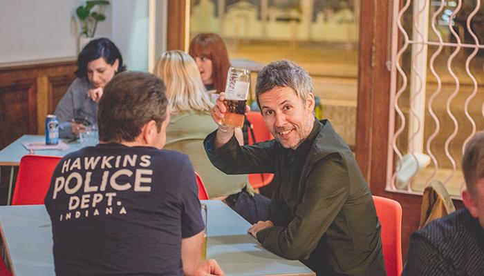 Enjoying a drink at Proven People, Sunderland