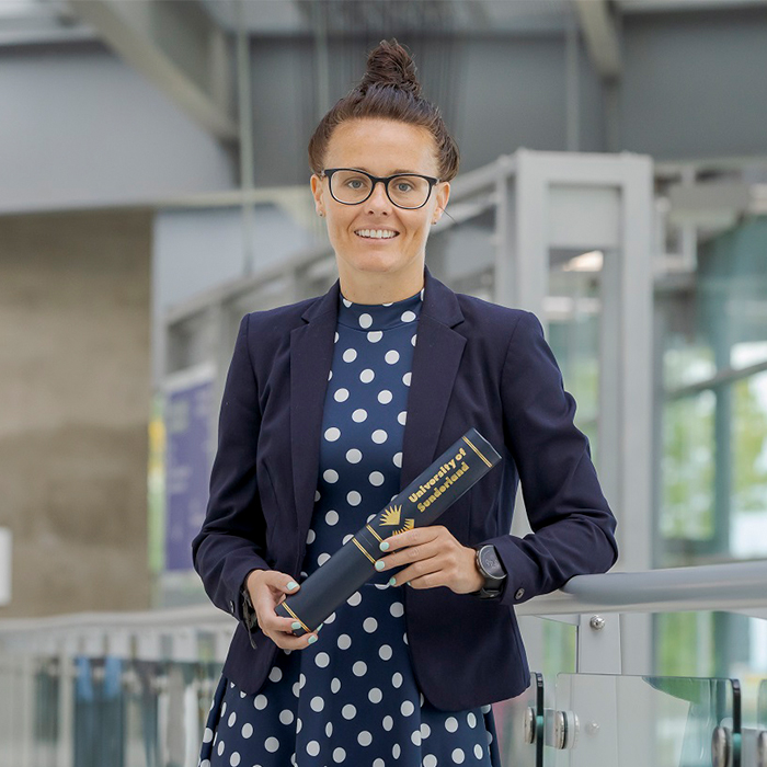 Rebecca Welch has been given an Honorary Fellowship by the University of Sunderland